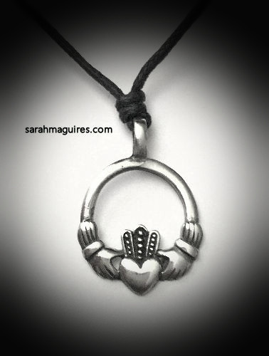 Pewter Claddagh Necklace