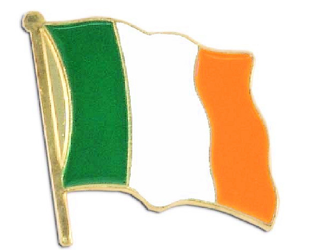 Irish Flag Lapel Pin