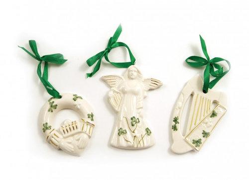 Irish Christmas Ornaments Set of 3 - Sarah Maguire's Cottage Scents & GiftsIrish Christmas Ornaments Set Of 3