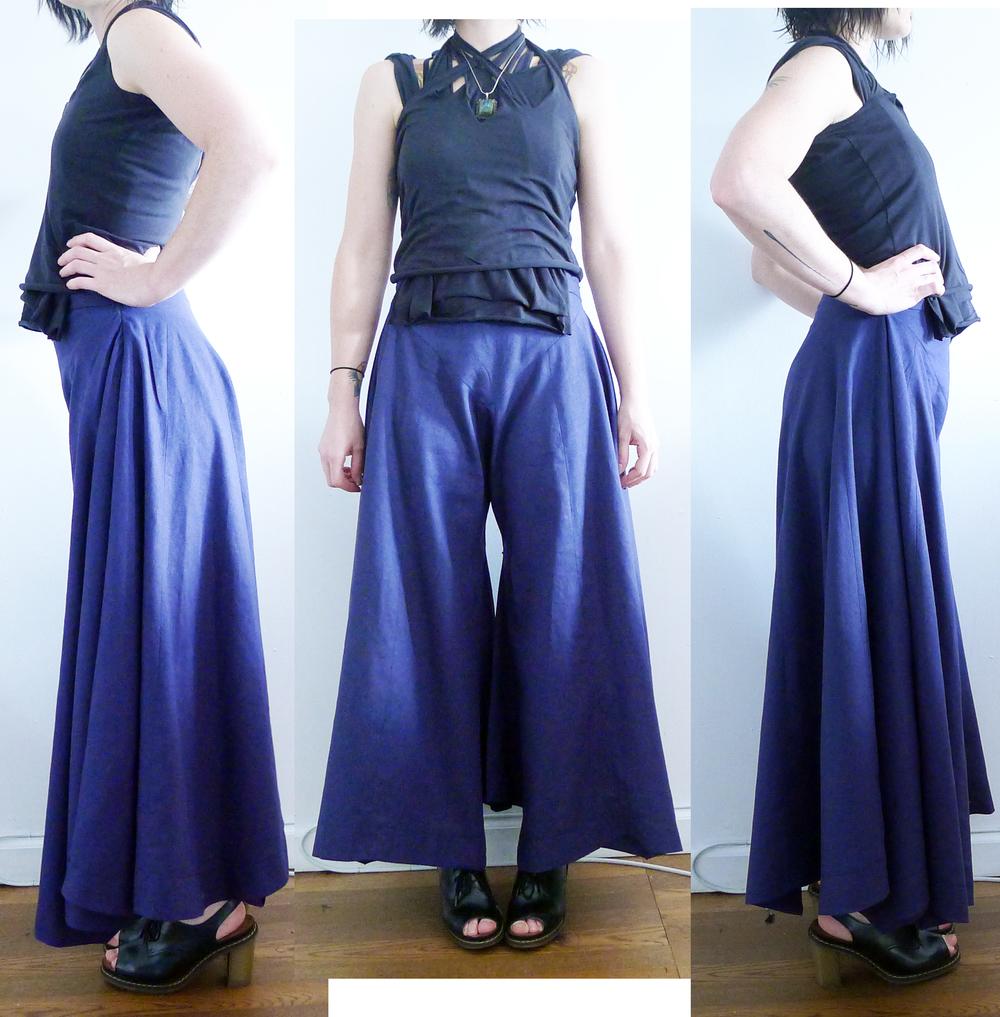 July 04, 2013, circle pants and knit shirt as worn.