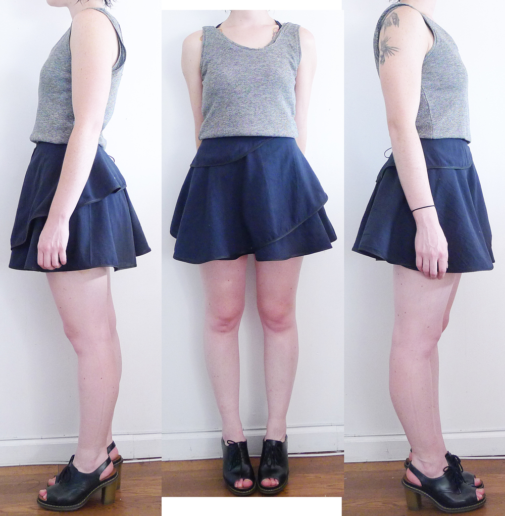 July 06, 2013 - double circle wraps skirt and reverse double tank.