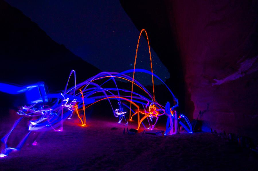 Glow sticks and stars.
