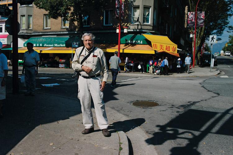 Fred Herzog in Vancouver, September 2012 / photo Hubert Kang