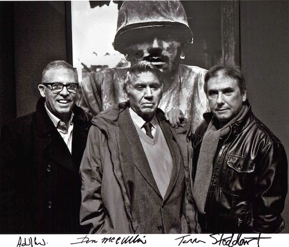 Aidan Sullivan [left], pictured with photographers Don McCullin and Tom Stoddart, started his career as a photographer before joining The Sunday Times as a picture editor. Now he divides his time between Reportage by Getty Images and the A Day Without News? campaign © Tom Stoddart.