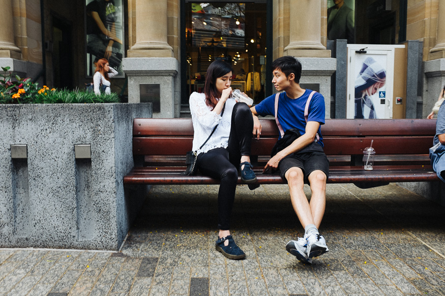 Queen Street Mall, Brisbane Fuji X100s - VSCO Kodak Portra 800
