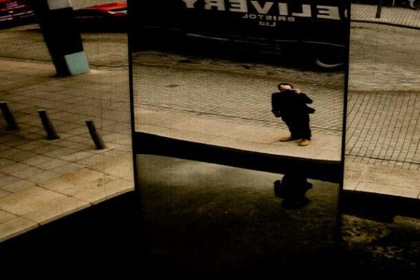 Craig Atkinson, self-portrait, Millenium Square, Bristol, England