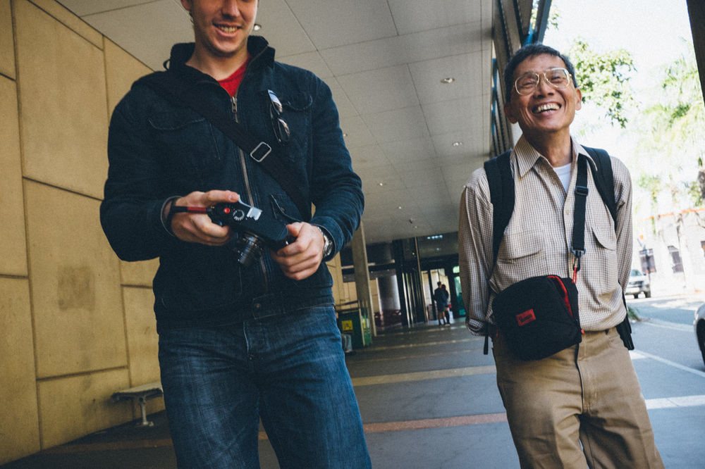 Connor and Keng on a recent street photography walk.