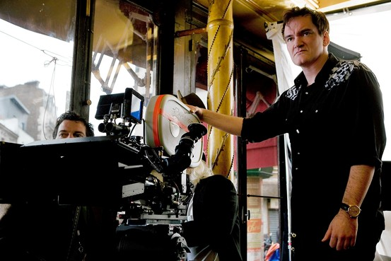 Quentin Tarantino was one of several directors that lobbied heads of studios to help ensure the continued production of Kodak movie film. Mr. Tarantino is shown on the set of 'Inglourious Basterds,' in 2009. Weinstein Company/Everett Collection