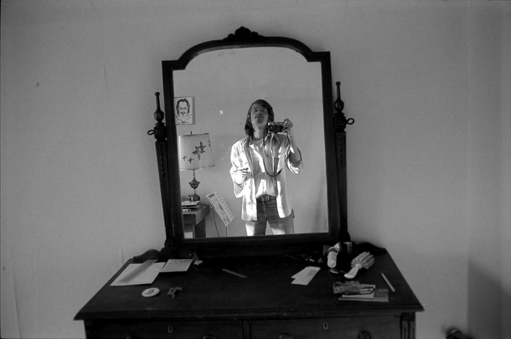 Pretentious self-portrait, 25th birthday, 1977