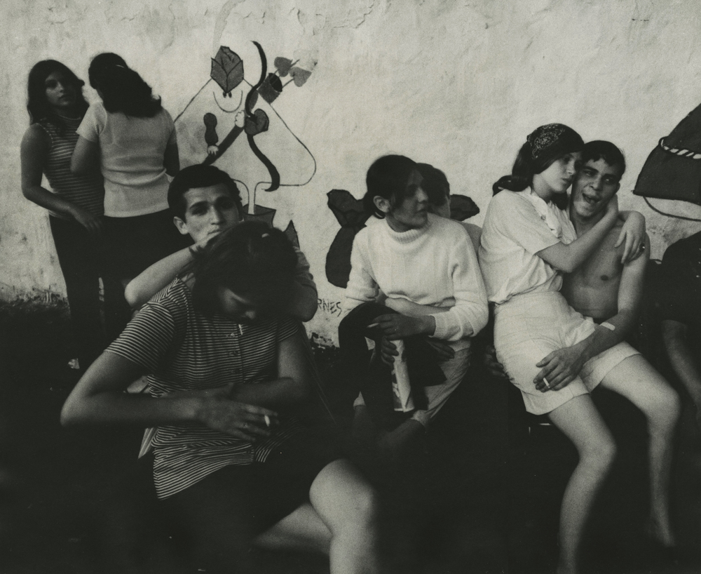 James Karales,  Lower East Side, New York , 1969, black-and-white photograph, 13 1/2 X 16 5/8 inches.