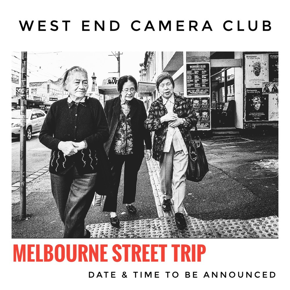 MELBOURNE STREET TRIP - Workshop and some walking. I full day of honing your street skills.