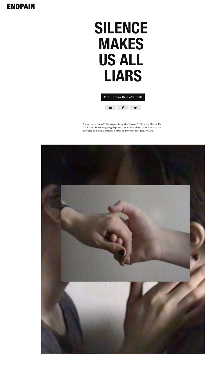 news jeanie choi silence makes us all liars is a continuation of photographing the closet