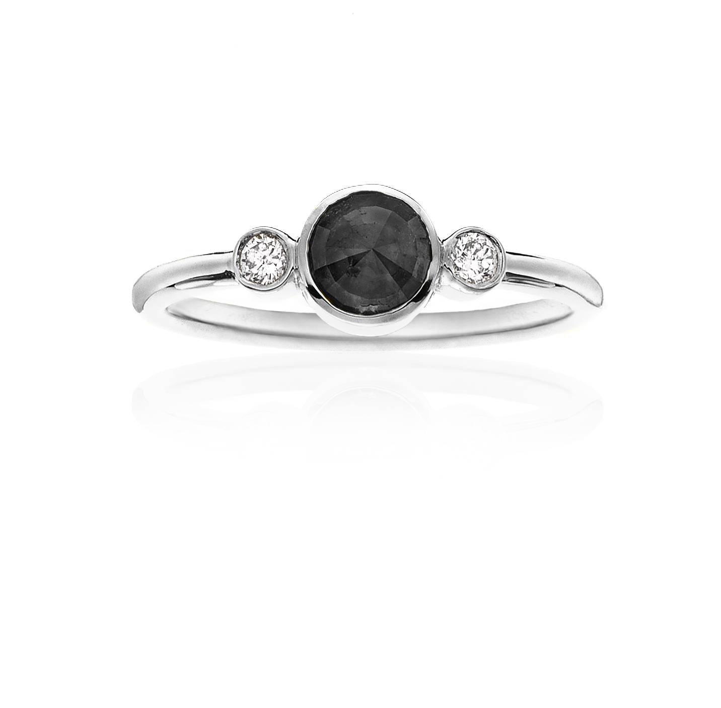 diamond cut stack rg engagement ring rosholt gold rings jewellery products anna black rose gray web