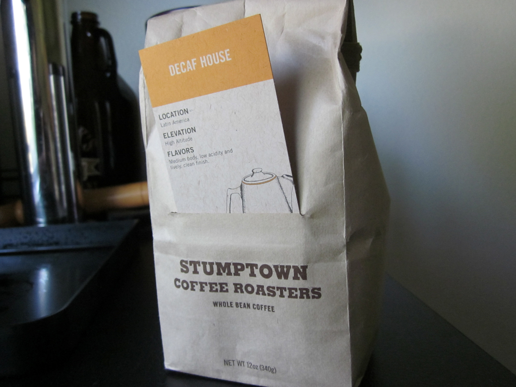 Stumptown coffee packaging with insert