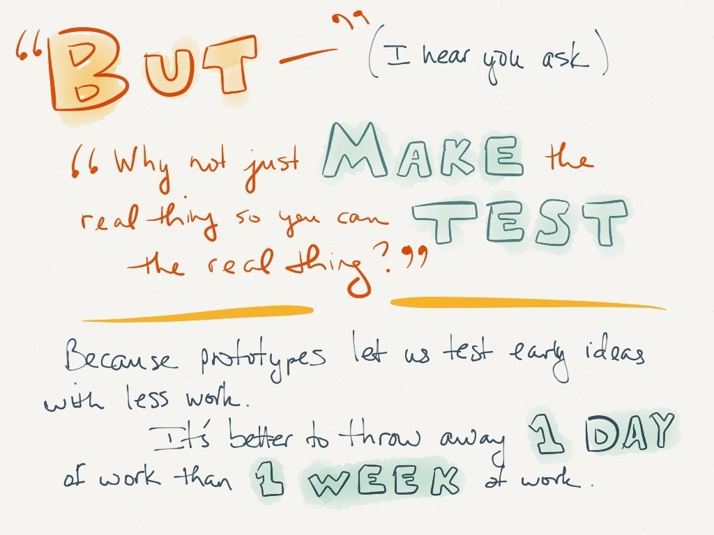 UX slide 5: on throwing away work