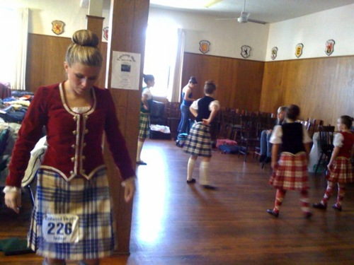 In Petaluma today watching Heather at Scottish dancing competition. There's something utterly arresting about walking into a room full of little girls flinging in unison.