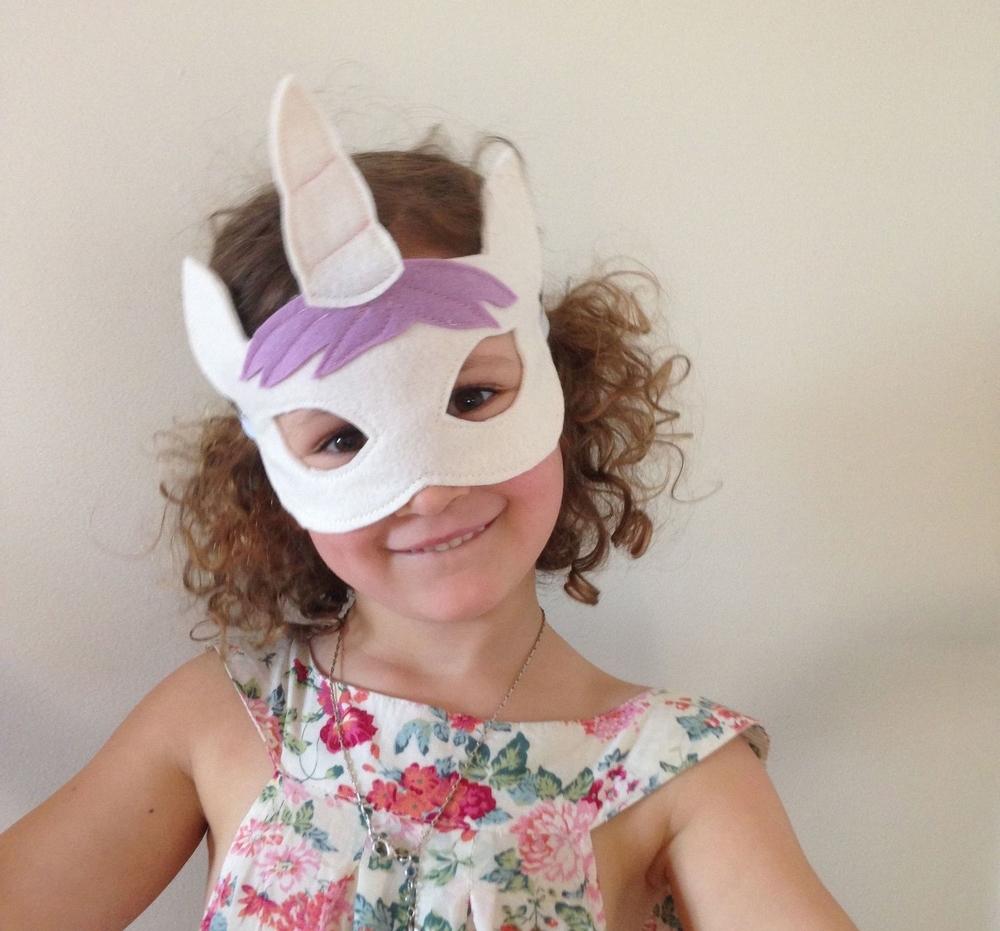 felt unicorn mask
