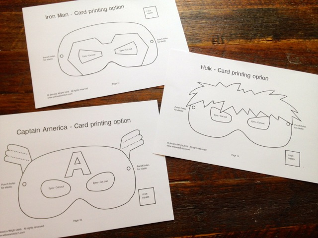 Superhero Mask Pdf Patterns Now Available Willow And Stitch
