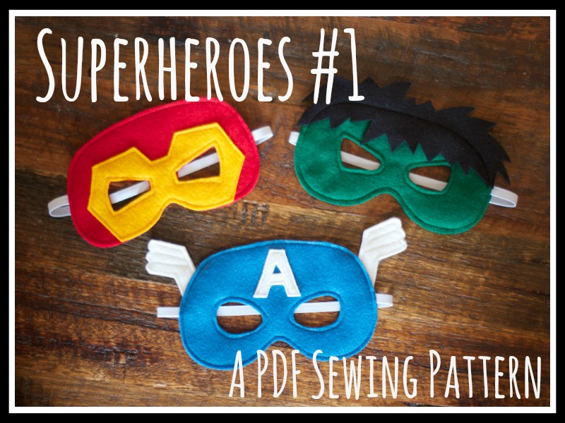 Superheroes #1 PDF Sewing Pattern