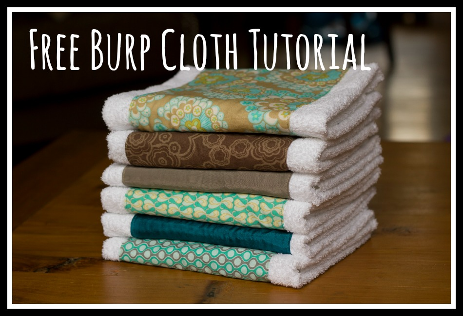 The Best (And Easiest!) Burp Cloth Tutorial