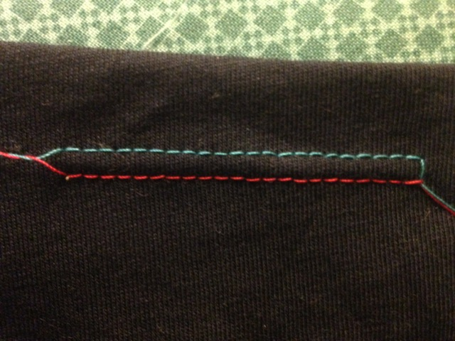 Twin needle Hem right side