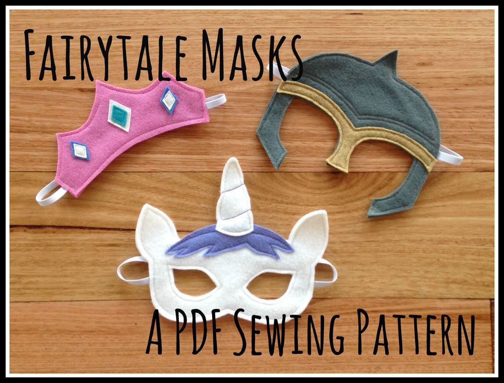 Willow and Stitch Fairytale Mask Pattern