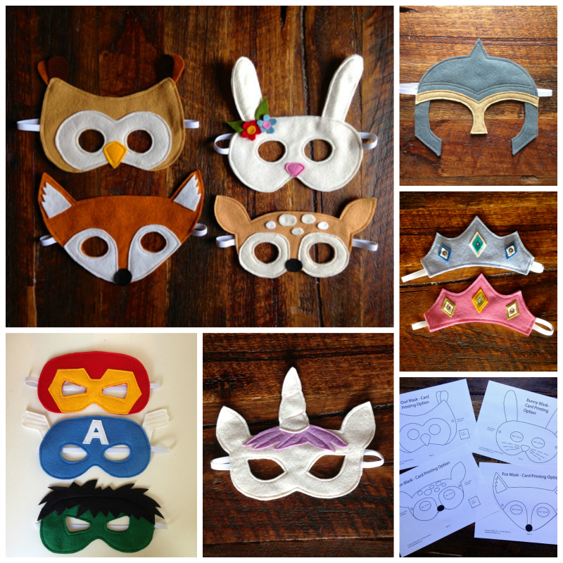 Felt Mask PDF Sewing Patterns | Willow & Stitch