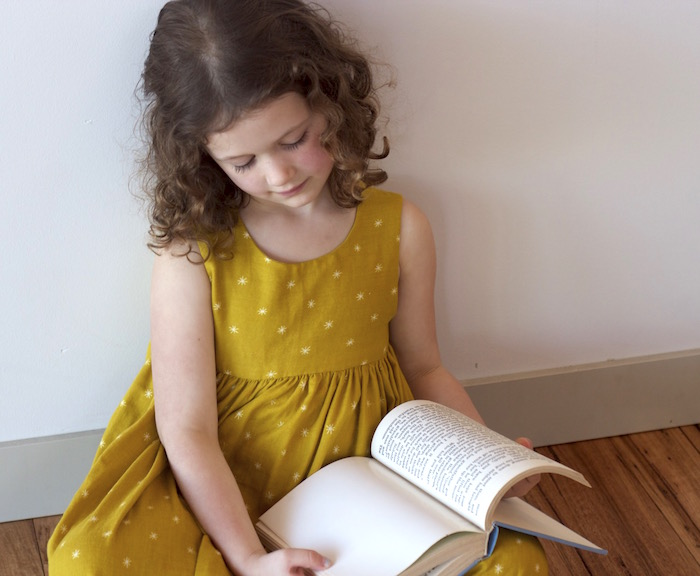 A Jane Austen Geranium Dress in Cotton and Steel Double Gauze | Willow & Stitch