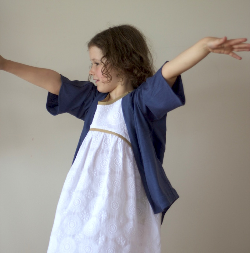 Blue Ridge Dress and Fishtail Kimono | Sewn by Willow & Stitch
