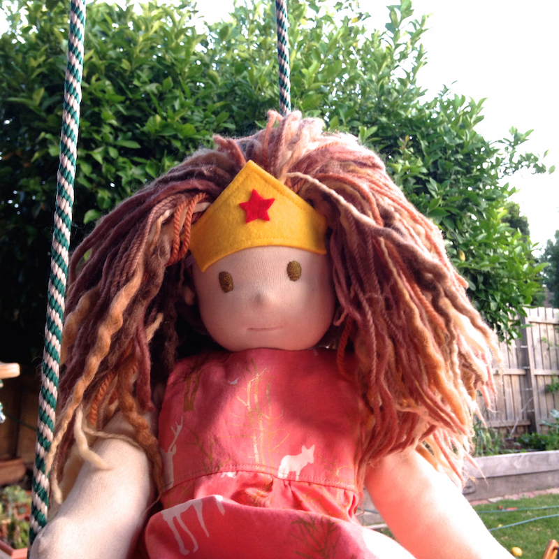 Doll Costume | Wonderwoman Headband by Willow & Stitch