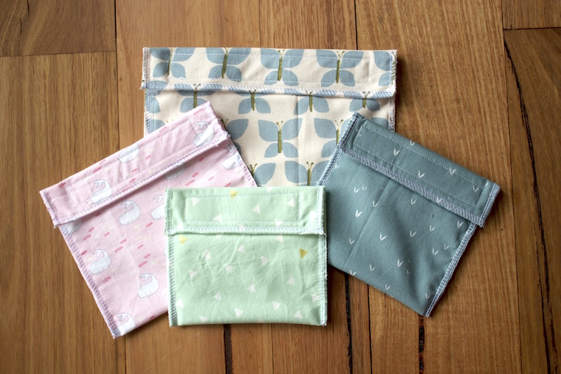 Eco Friendly Reusable Fabric Lunch / Snack bags | Free Tutorial from Willow and Stitch