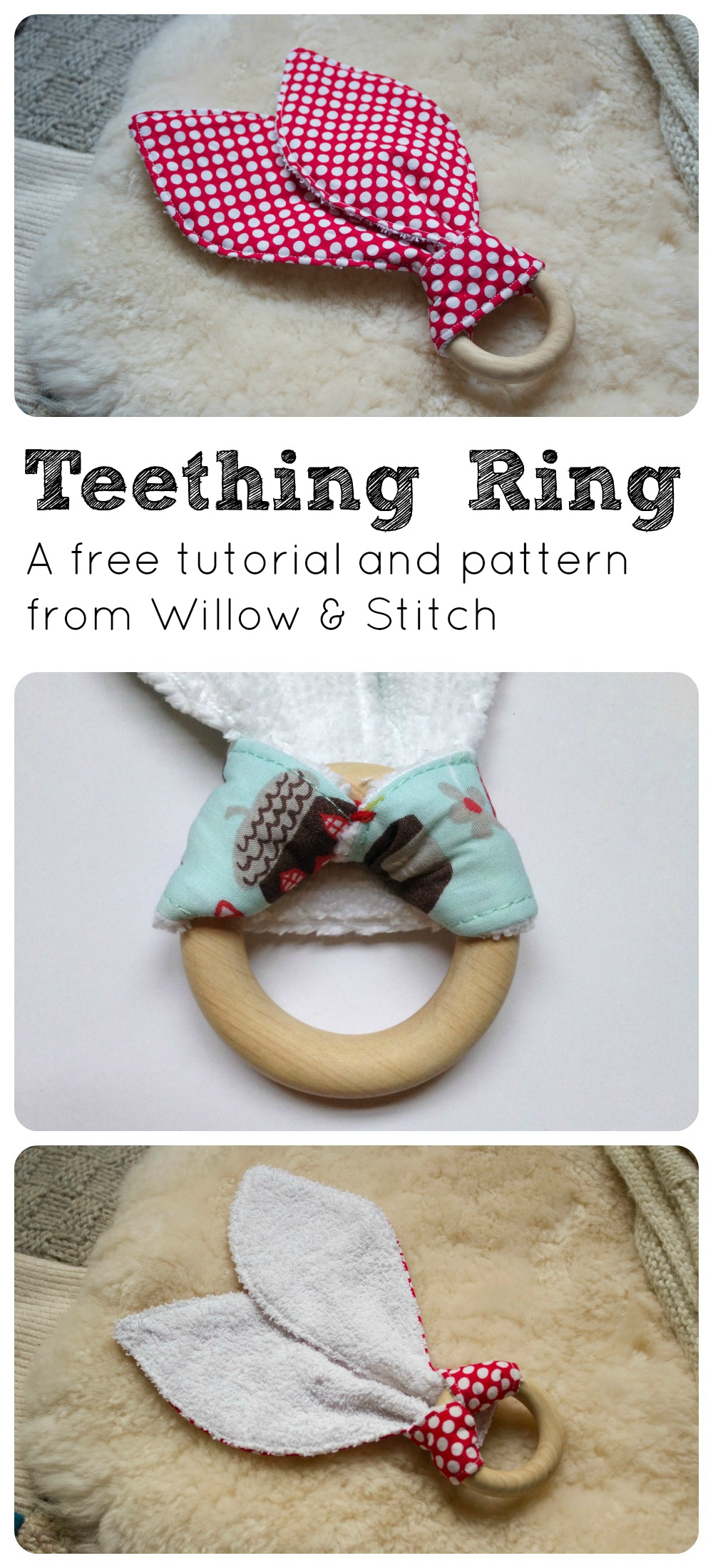 Free Teething Ring Tutorial and Pattern from Willow & Stitch