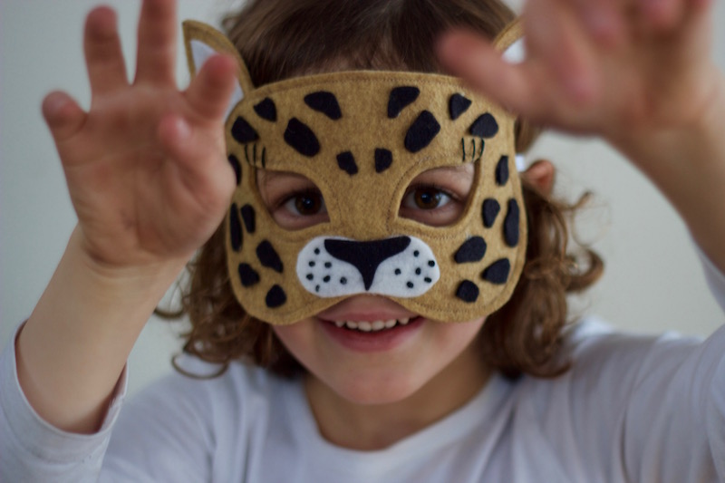 Wild Things - Leopard Felt Animal Mask PDF Sewing Pattern from Willow & Stitch