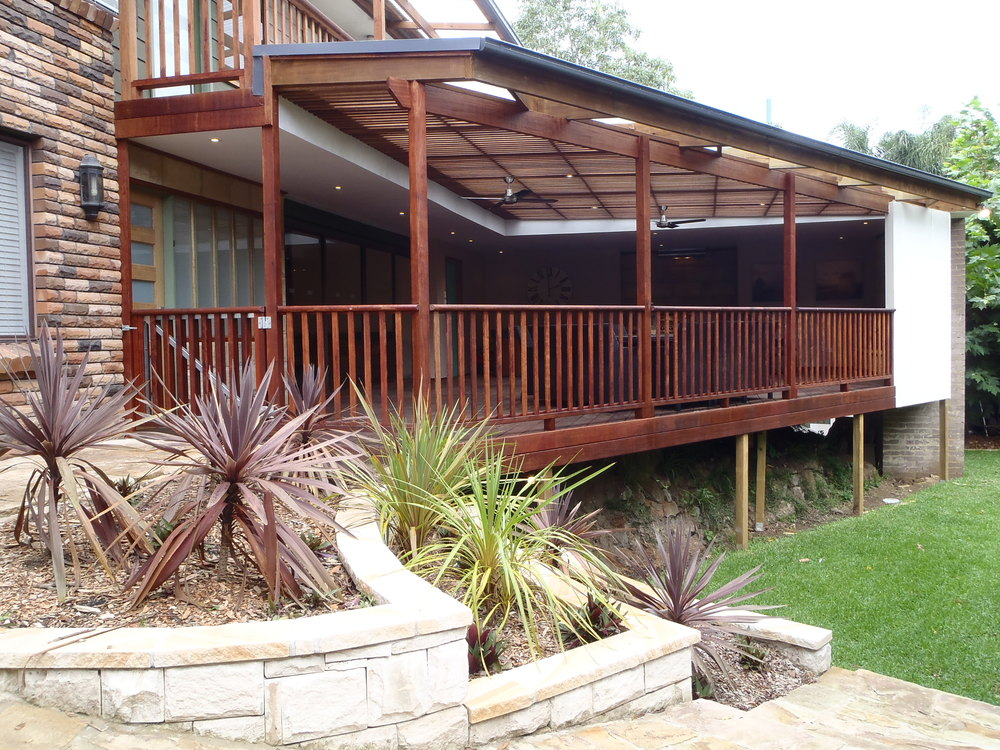 Deck & Outdoor Entertainment Area (after) - Louise & James, Gymea Bay