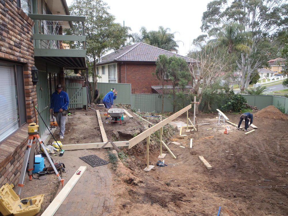 Deck & Outdoor Entertainment Area (before) - Louise & James, Gymea Bay