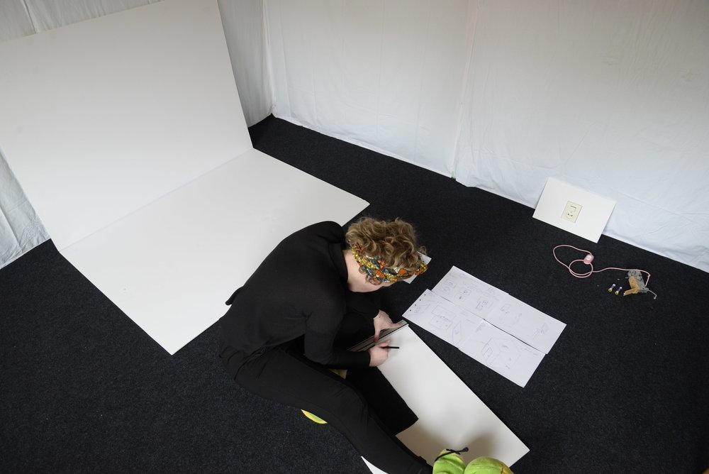 Lisanne aan het werk