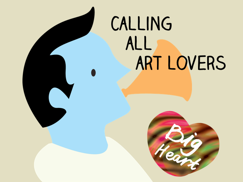 Calling All Art Lovers logo, Longfield Hospice