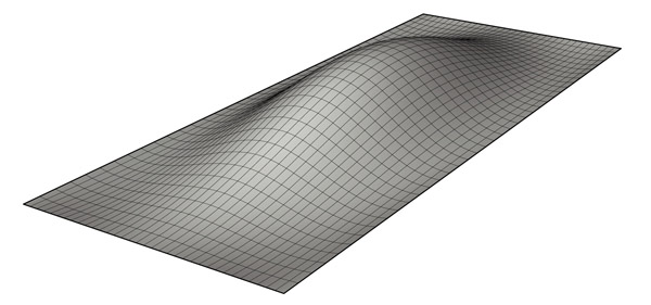 Step 1: The script needs a surface that is larger than the point grid area in order to function properly, so the first step is to generate a sufrace using any of Rhino's surface creation methods. This is the only step that is required prior to launching Grasshopper and running the definition. Click image for more detail.