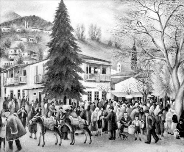 "Keramidas' ""Life in the Village Square"""