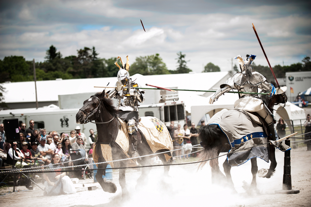 © Kevin Vyse Photography  All rights reserved 2014 Lance smashes to pieces as the knights connect on horseback