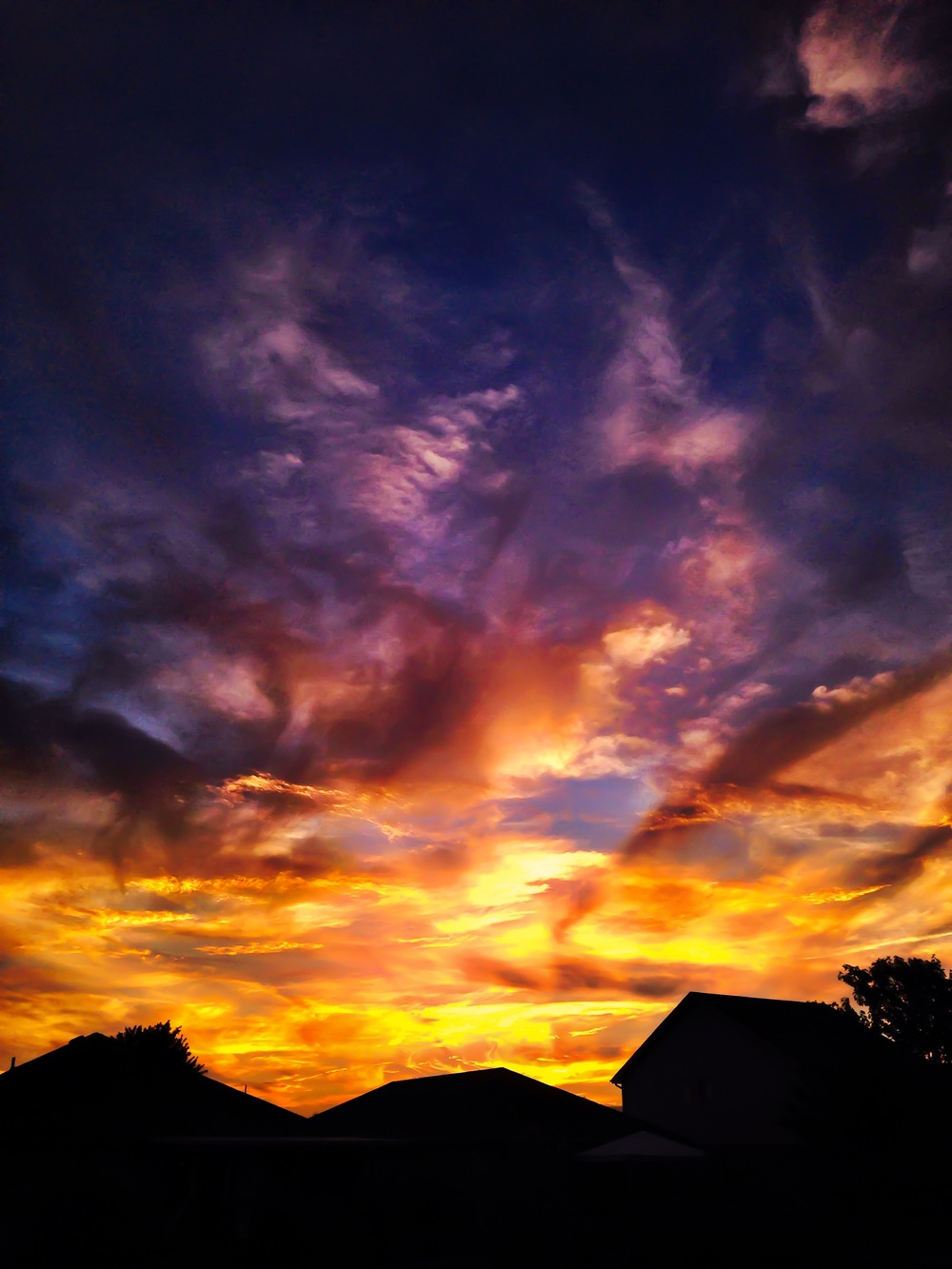 Fire Sky and Suburban Silhouette