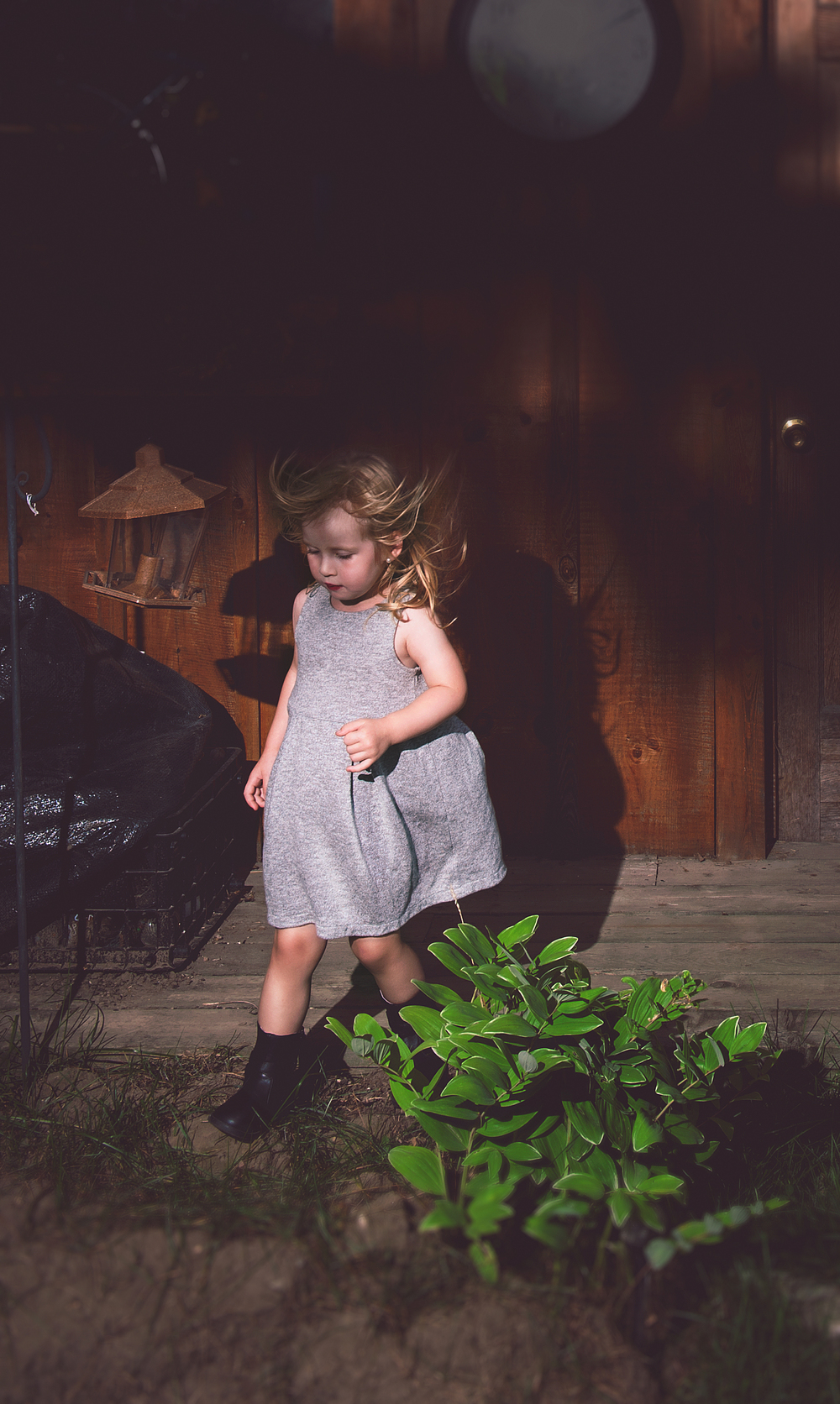 Pyper didn't want to do pictures anymore, she was getting tired. As the wind blew, she decided to walk off set. Sometimes the best images are the unplanned, quick shot images.