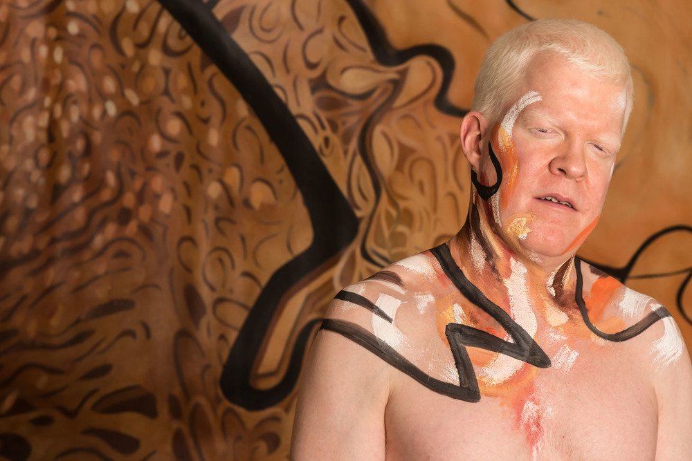 Albino Portrait with painting. Facemotions Photography with Paul.jpg