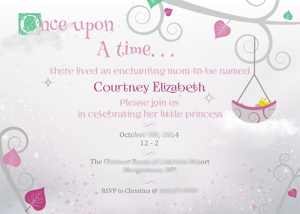 Once Upon A Time Invitations was luxury invitation layout