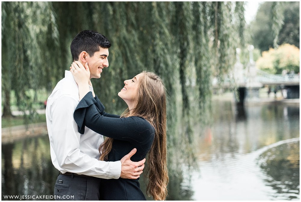 Jessica K Feiden Photography - Boston Public Garden Engagement Session - Boston Wedding Photographer_0007.jpg