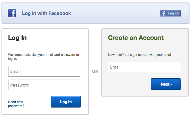 Choose Create Account if you haven't set up your password yet. -