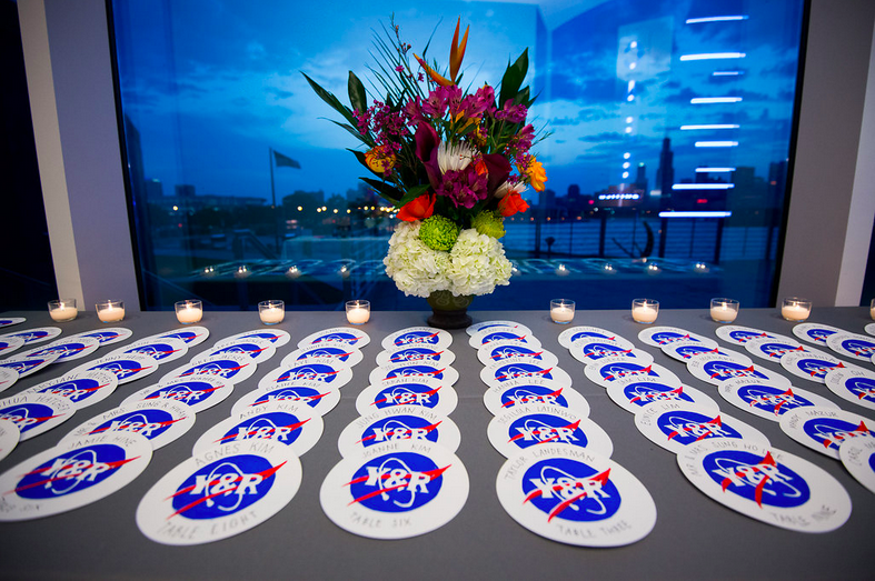 Nasa-Themed Wedding Place Cards
