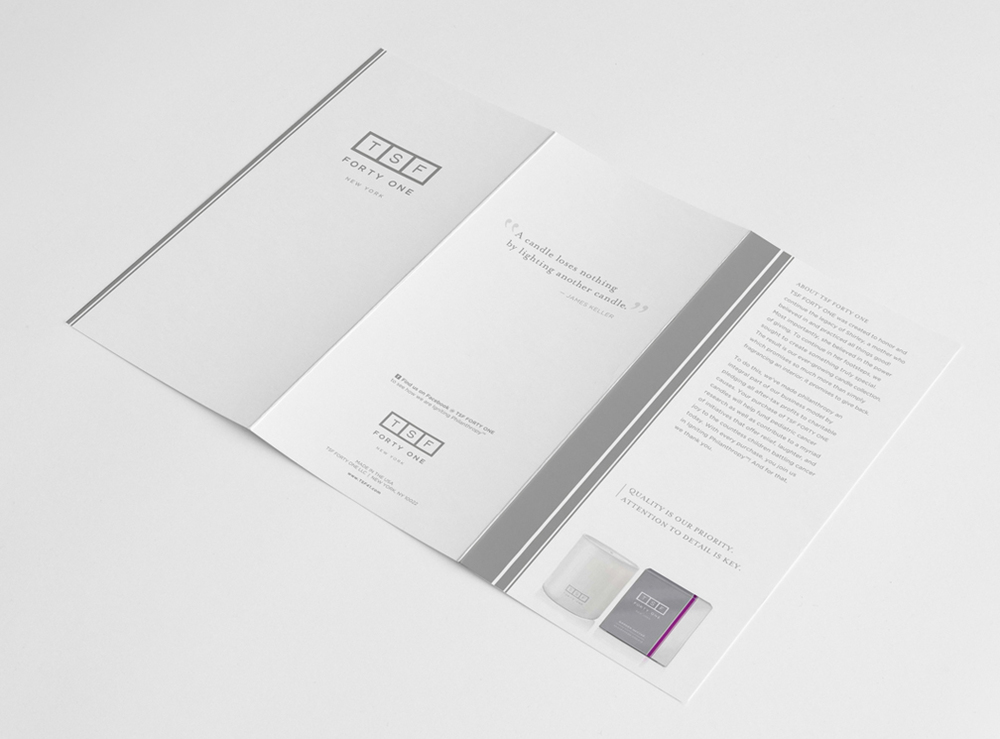TSF FORTY ONE BROCHURE, EXTERIOR