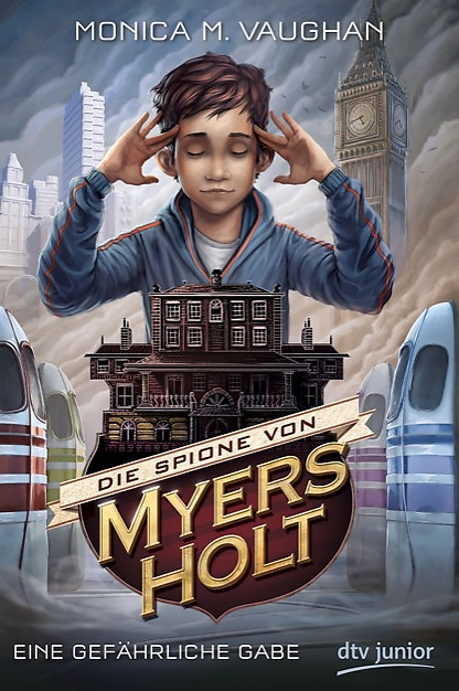 The German cover of THE ABILITY or, THE SPIES OF MYERS HOLT as it will be known there! I love my US cover so much and couldn't imagine an alternative but I think dtv Germany did an amazing job! Check out the think tanks on either side - cool, eh?!
