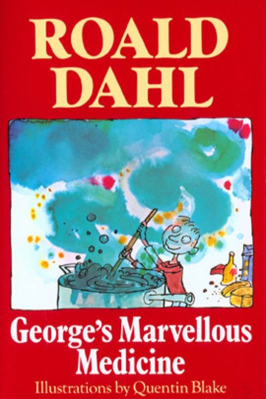 george's marvellous medicine , by roald dahl. my brother & i emptied out many, many bottles from our bathroom trying to recreate george's potion.